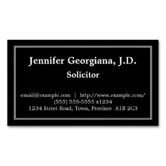Carte de visite magnétique d'avocat-conseil
