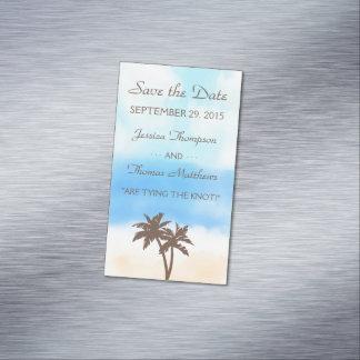 Carte De Visite Magnétique La collection de mariage de plage d'aquarelle
