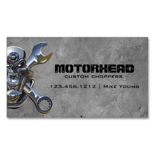 Carte De Visite Magnetique Magasin Cotelette Moto Crane Metal