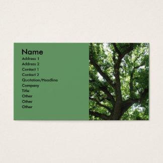 Carte de visite majestueux d'arbre