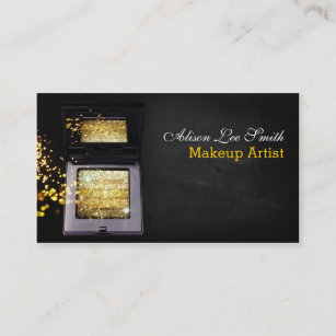 Carte De Visite Makeup Artist Gold Magic Shimmer Brick