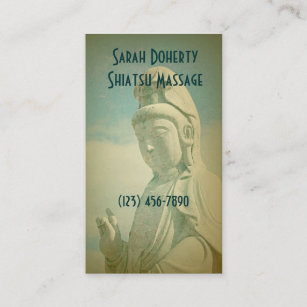 Carte De Visite Massage Spa Ou Meditation