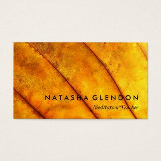 Carte de visite méditatif de zen de zen jaune de