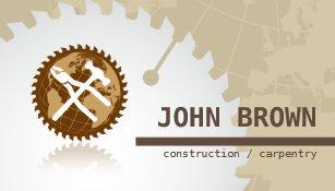 Carte De Visite Menuiserie Globale Professionnelle Construction