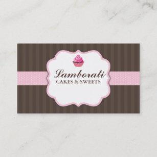 Carte De Visite Mignon Moderne Lgant Rose Boulangerie
