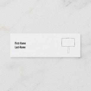 Carte De Visite Mini Avis Poteau Indicateur Gris Et Blanc