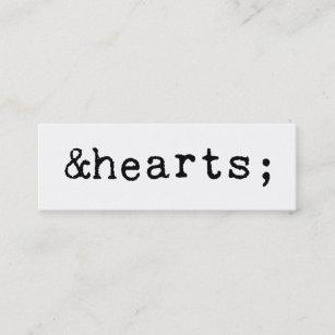 Carte De Visite Mini Coeurs Dans Le HTML