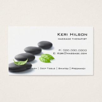 Carte de visite minimaliste de thérapeute de