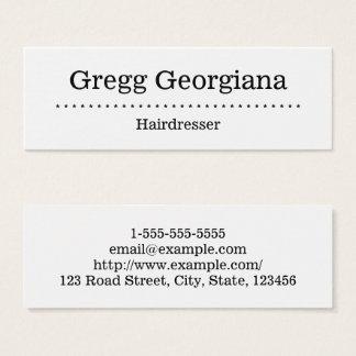 Carte de visite minimaliste et simple de coiffeur