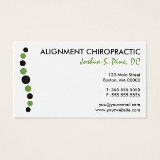 Carte de visite moderne de chiropractie de points