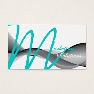 Carte de visite moderne élégant de monogramme de
