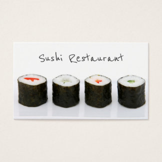 Carte de visite moderne simple de sushi