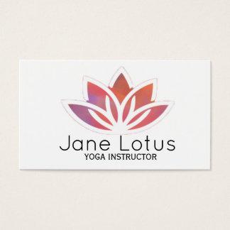 Carte de visite multicolore de yoga de Lotus