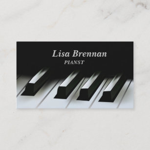 Carte De Visite Musicien Pianiste Ecole Professeur