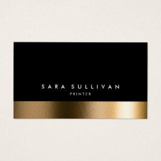 Carte de visite noir audacieux d'or d'imprimante