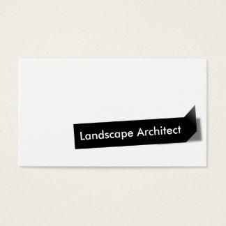 Carte de visite noir d'architecte paysagiste