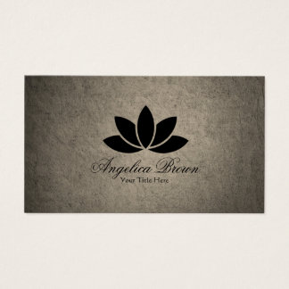 Carte de visite noir de fleur de Lotus