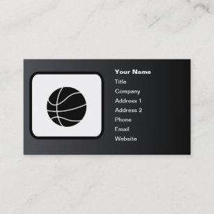 Carte De Visite Noir Personnalisable Logo Basket Ball
