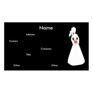 Carte de visite nuptiale de la silhouette II
