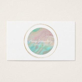 Carte de visite opale de conception de vert de