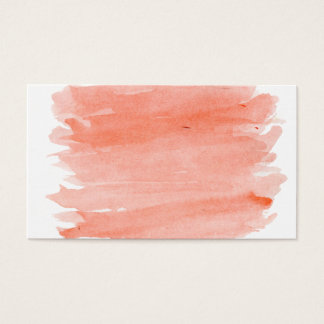Carte de visite orange d'aquarelle