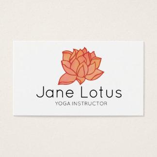 Carte de visite orange de yoga de Lotus