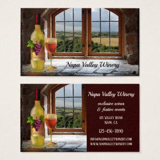 Carte de visite orienté de vin d'établissement