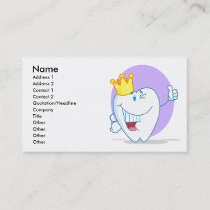 Carte De Visite Personnage Dessin Anim Sourire Dent Avec