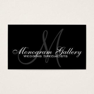 Carte de visite personnalisable de monogramme gris