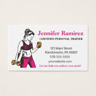Carte de visite personnel femelle d'entraîneur