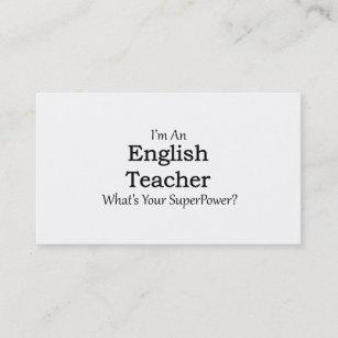 Carte De Visite Professeur DAnglais
