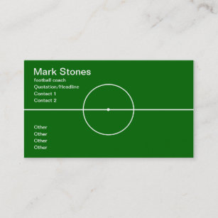Carte De Visite Professionnel Dentraineur Football Americain