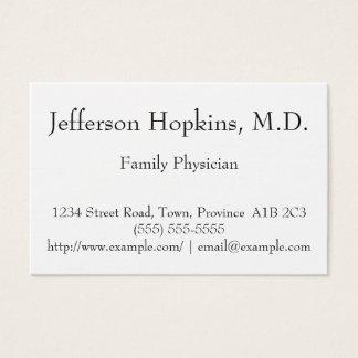 Carte de visite propre et minimal de médecin de