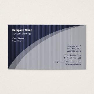 Carte de visite rayé bleu élégant
