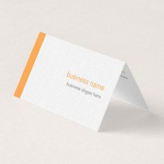 Carte De Visite Rayure orange simple moderne élégante simple