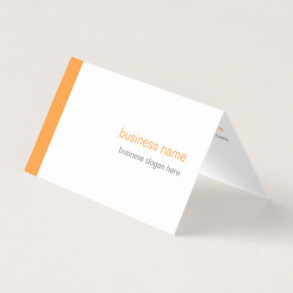 Carte De Visite Rayure orange simple moderne élégante simple sur