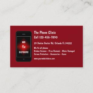 Carte De Visite Reparation Telephone Portable