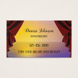 Carte de visite rêveur professionnel de
