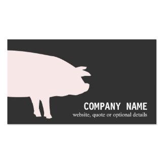 Carte de visite rose de porc