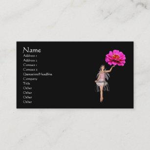 Carte De Visite Rose Feerique Dimaginaire