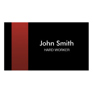 Carte de visite rouge et noir élégant