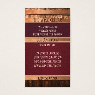 Carte de visite rustique de vendeur de vin de