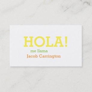 Carte De Visite Salutation Espagnole