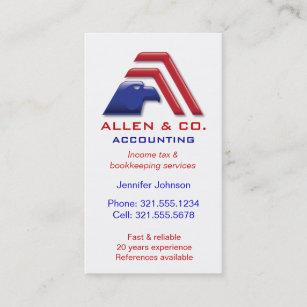 Carte De Visite Services Accounting Financier Comptabilite