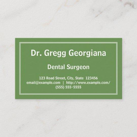 Carte De Visite Simple Chirurgien Dentiste