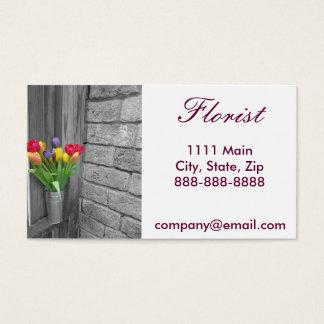 Carte de visite simple de fleuriste