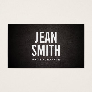 Carte de visite simple de photographe de