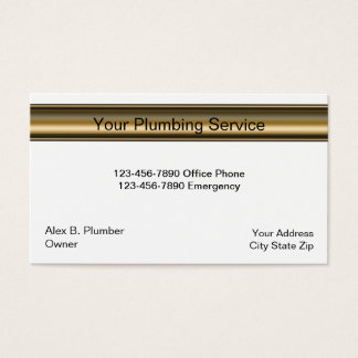 Carte de visite simple de plombier