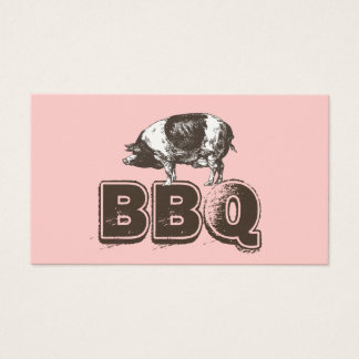 Carte de visite simple de porc de BBQ de rose
