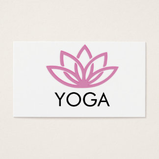 Carte de visite simple de yoga de Lotus